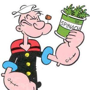 Ät ordentligt med spenat precis som Karl-Alfred så får du förhoppningsvis samma energi! :)
