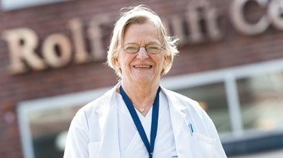 Professor Kertin Brismar, diabetesforskare och endokrinolog på Karolinska Institutet. (Foto Håkan Flank, hemsida: flank.se)