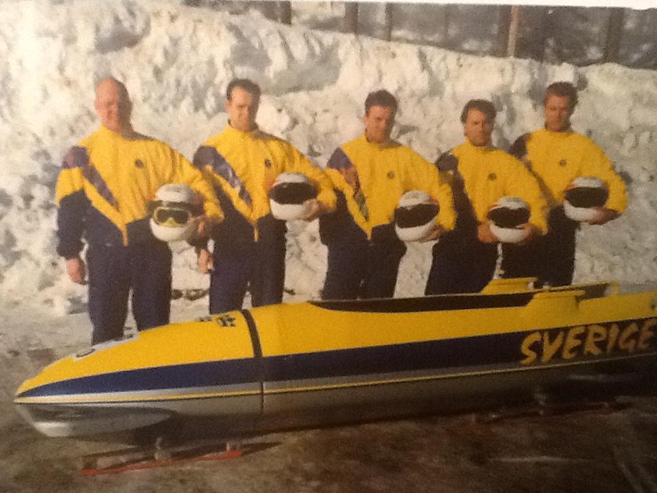 Det svenska BOB-landslaget inför OS i Lillehammer 1994